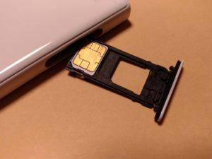 端末に入っているSIMカード
