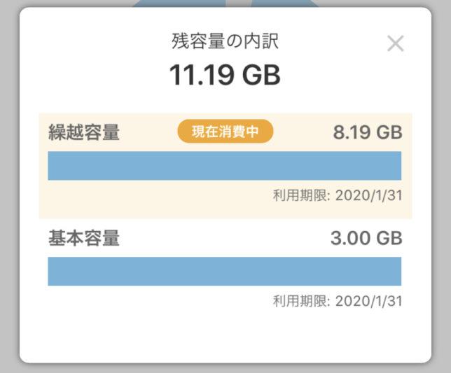 OCNモバイルONE データ繰り越し