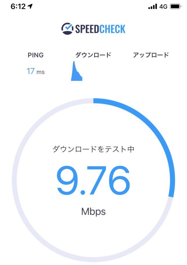 UQモバイル ダンロード速度